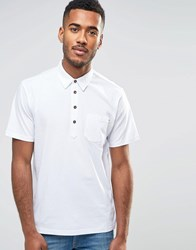 Farah Jersey Polo Shirt White