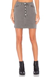 J Brand Rosalie Button Front Skirt Distressed Silver Fox