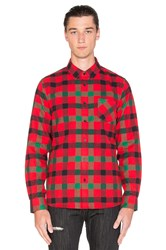 Black Scale Bedford Button Down Red
