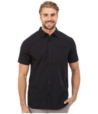 Tavik Porter Short Sleeve Woven Shirt Jet Black Men's Short Sleeve Button Up