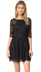 Cupcakes And Cashmere Geneva Lace Fit Flare Dress Black