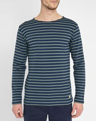 Armor Lux Navy Green Classic Sailor Stripe Top