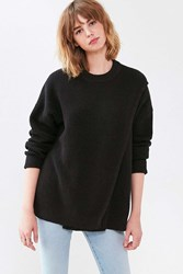Silence And Noise Crossover Crew Neck Sweater Black