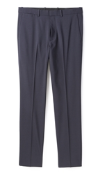 Theory Jake Ff Tropical Suit Trousers Navy