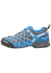 Salewa Wildfire Vent Walking Shoes Walnut Mayan Blue Brown