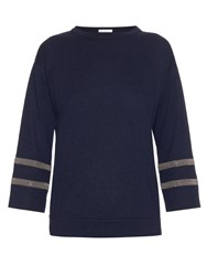 Brunello Cucinelli Bead Embellished Cashmere Top