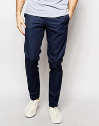 Sisley Slim Fit Chino With Turn Up Blue