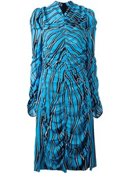 Marni Trellis Print Midi Dress Blue