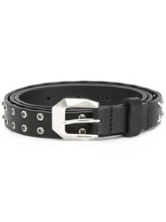 Diesel 'Be Bony' Belt Black