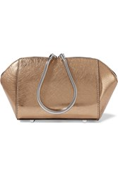 Alexander Wang Chastity Metallic Textured Leather Cosmetics Case