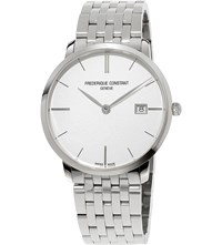 Frederique Constant Fc220s5s6b Slimline Date Stainless Steel Watch