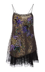 Etro Lace Hem Slip Dress Print