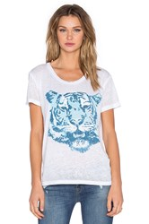 Chaser Tiger Blues Tee White