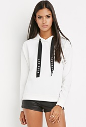 Forever 21 Workout Everyday Hoodie White Black
