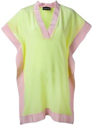 Marco Bologna Contrasting Hem Dress Pink And Purple