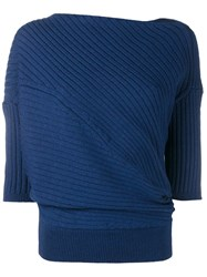 J.W.Anderson Cable Knit Jumper Blue