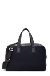 Jack Spade Wool And Genuine Full Grain Leather Overnight Bag Blue