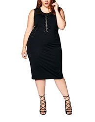 Mblm By Tess Holiday Plus Sleeveless Studded Dress Black