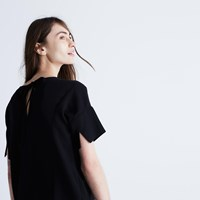 Madewell Crepe Premiere Bow Back Tee