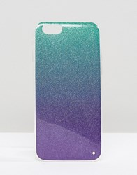 Signature Glitter Iphone 6 Case Green Purple Multi