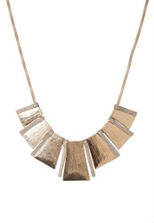 Miss Selfridge Piano Necklace Goldcoloured