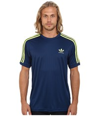 Adidas Skateboarding Climalite Club Jersey Oxford Blue Frozen Yellow Men's Clothing Navy