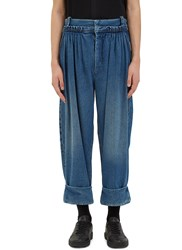 J.W.Anderson Oversized Pleated Denim Balloon Pants Blue