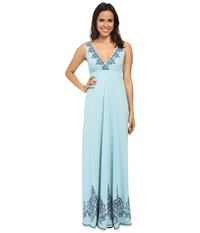Roper 9772 Poly Rayon Jersey S L Maxi Dress Blue Women's Dress
