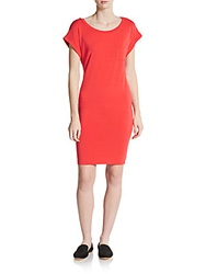 Splendid Stretch Jersey Tee Dress Paprika