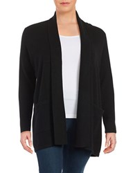 Lord And Taylor Plus Cashmere Shawl Collar Cardigan Black
