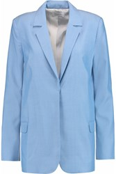 Equipment Mitchell Woven Silk Blazer Blue