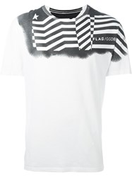 Golden Goose Deluxe Brand Printed T Shirt White