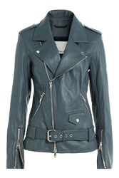 3.1 Phillip Lim Leather Biker Jacket Blue