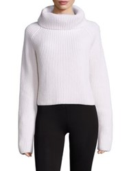 Haider Ackermann Cropped Chunky Knit Wool Sweater White