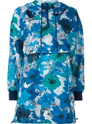 Adidas By Stella Mccartney 'Running Blossom' Pullover Jacket Blue