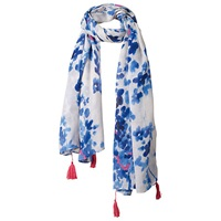 Fat Face Floral Bud Print Scarf Blue