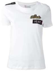 Red Valentino Patched T Shirt White