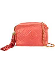 Chanel Vintage Chain Shoulder Bag Pink And Purple