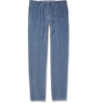 Boglioli Cotton And Cashmere Blend Corduroy Trousers Blue