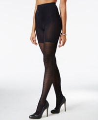 Star Power By Spanx Geo Contrast Tights Very Black