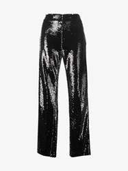 Msgm Sequin Embellished Trousers Black
