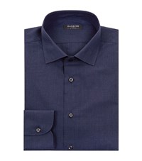 Harrods Of London Prince Of Wales Check Formal Shirt Male Navy