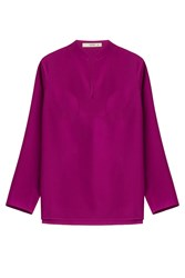 Etro Silk Tunic Blouse Purple