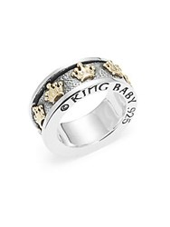 King Baby Studio Gold Crown Ring Silver