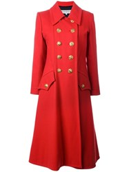 Yves Saint Laurent Vintage Military Coat Red