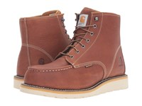 Carhartt 6 Inch Steel Toe Waterproof Wedge Boot Tan Oil Tanned Leather Men's Work Boots Brown