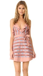 For Love And Lemons Persephone Embroidered Sleeveless Dress Vintage Blush