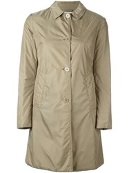 Aspesi Single Breasted Short Coat Nude And Neutrals