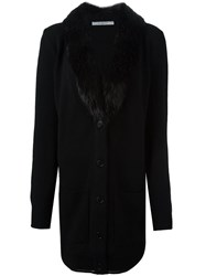 Givenchy Beaver Fur Collar Cardigan Black
