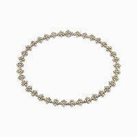 Tiffany And Co. Schlumberger Lynn Necklace In 18K Gold With Diamonds. Platinum 18K Yellow Gold Diamond